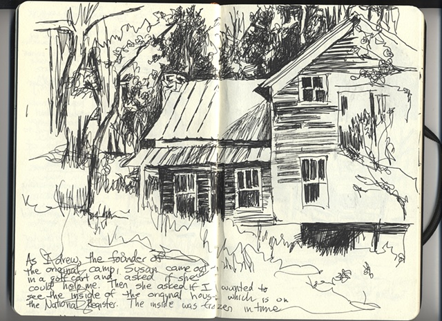 Darom: Original Cabin, sketch #2