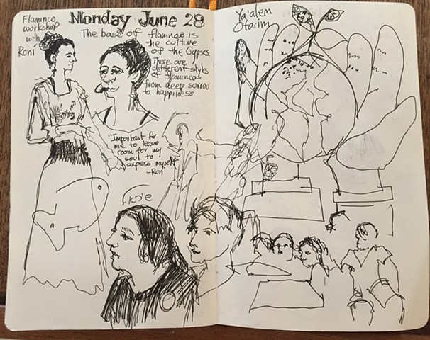 Monday: flamenco dancing & visiting the school, part 1