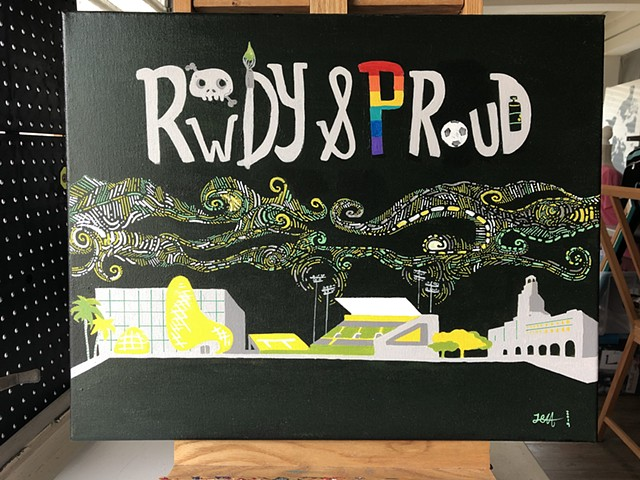 Rowdy and Proud Original Painting