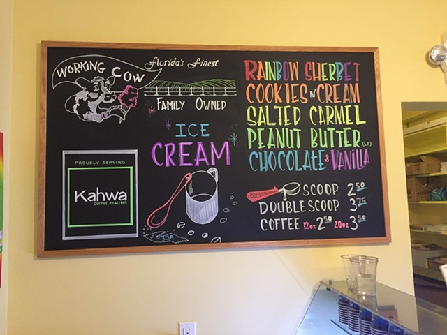LGBTQ+ Welcome Center Ice Cream Menu