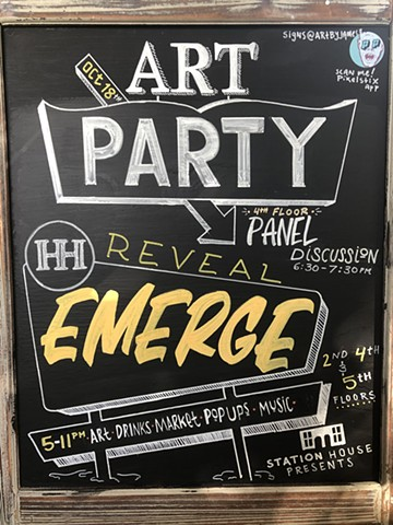 A-Frame for Station House event Reveal: Emerge October 2019