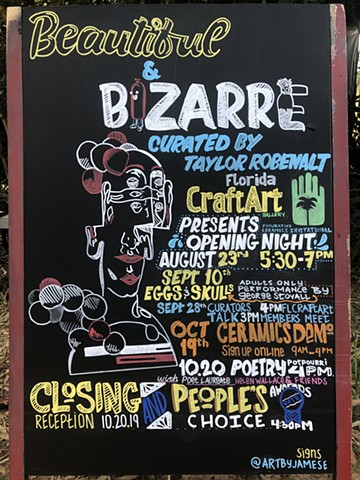 "Video - ""Beautiful and Bizarre"" Sign Art for FL CraftArt Gallery"