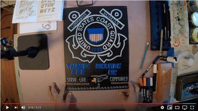 Video - Coast Guard Custom Sign for Maple Street Biscuit Co.