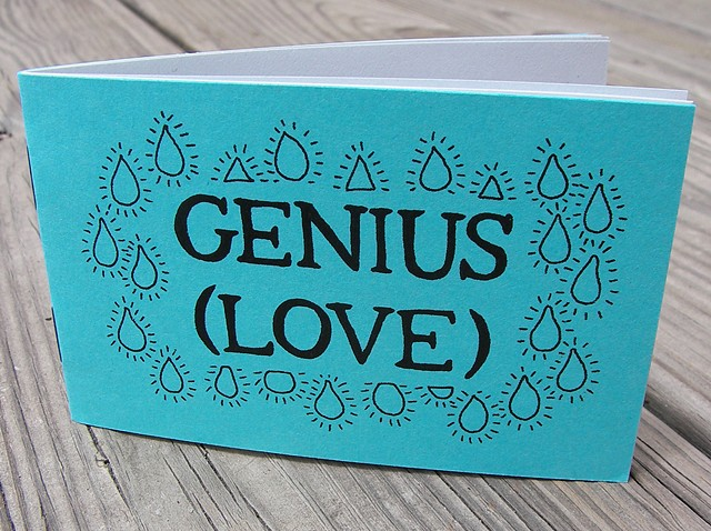 Genius (Love) Zine by Aijung Kim www.sprouthead.etsy.com