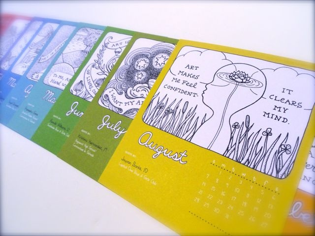 Art 180 calendar illustrated by Aijung Kim www.art180.org