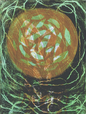 """Monotype print """"Cell"""" by Aijung Kim"""