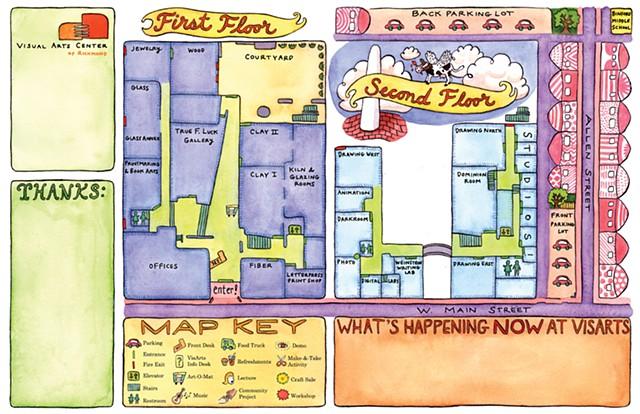 Visual Arts Center Map
