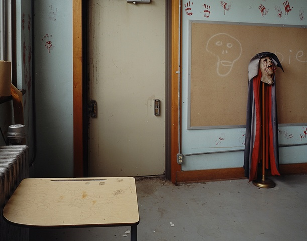 Haunted House Decorations, McHenry School, Closed 1992, McHenry, North Dakota  2005