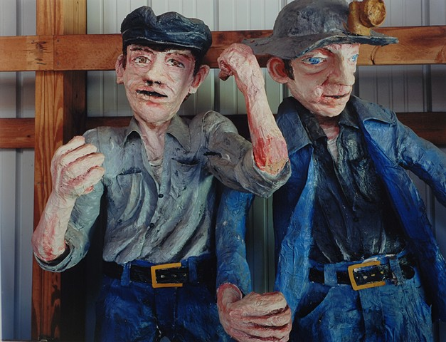 Figures of Miners, Storage, Discovery Center, Formerly Ironworld, Chisholm, Minnesota 2014