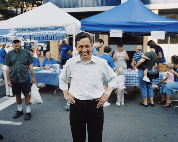 Congressman Dennis Kucinich at the Cedar Rapids Farmers Market.  October 6, 2007.  Withdrew January 25, 2008