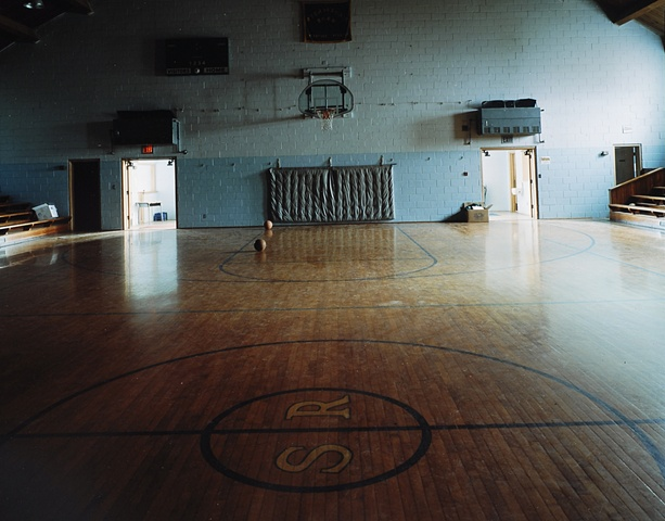 Gym, Steamboat Rock High School, Closed 1999, Steamboat Rock, Iowa  2003