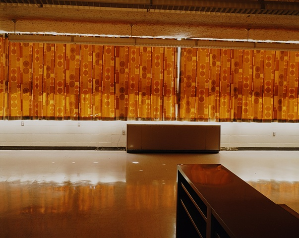 Curtains, Home Economics Room, Willow City School, Closed 2003, Willow City, North Dakota 2003