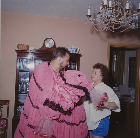 MaryAnn and Paul with his new dress, Eveleth, Minnesota 1996