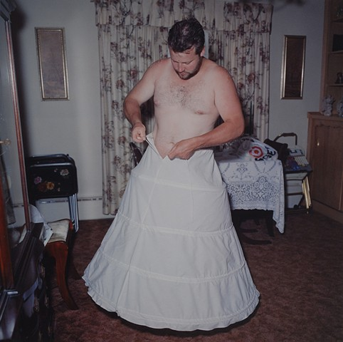 Paul Trying New Outfit, Eveleth, Minnesota 1996