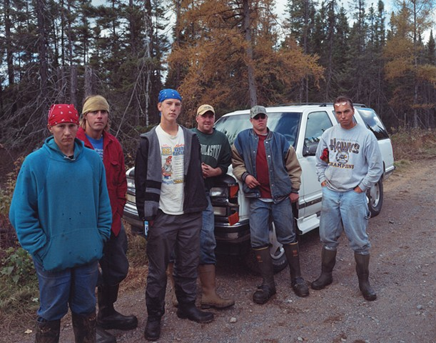 Chris and His Crew of Black Spruce Cutters, near Meadowlands, Minnesota 2003