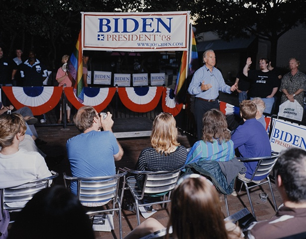 """Joe Biden Meets with the Gay Community"", Iowa City, Iowa.  July 2, 2007."