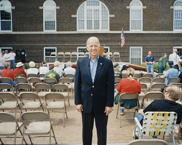 Senator Joe Biden at Memorial Day events, Waterloo, Iowa. May 28, 2007.  Withdrew January 3, 2008 after poor showing in Iowa Caucuses. Selected by Barack Obama to be Vice President.