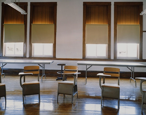 Classroom Upham School, Closed 2003, Upham, North Dakota 2003