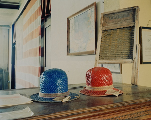 Duplex Process Waterproof Hats, Pioneer Trails Museum, Hanks, North Dakota 2009
