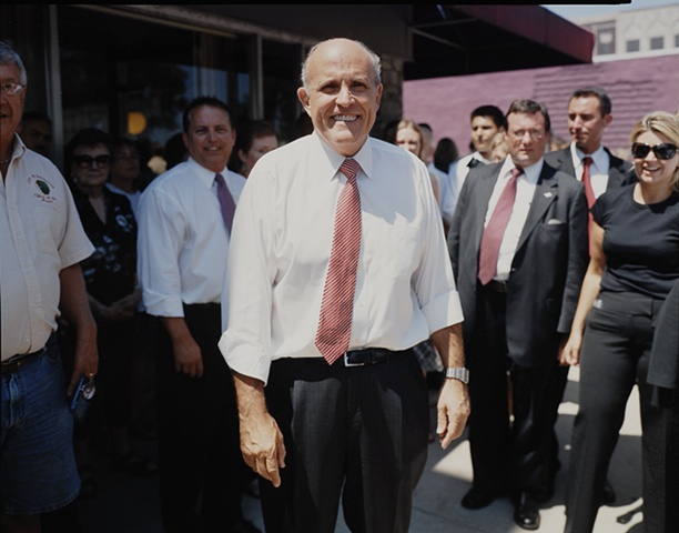 Mayor Rudy Guiliani, outside Morg's Restaurant, Waterloo, Iowa. July 19, 2007.  Withdrew January 30, 2008