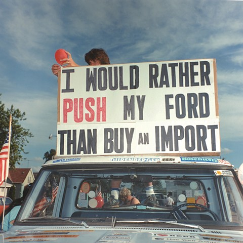Push My Ford, Calathumpian Parade, July 4th, Biwabik, MN 1986