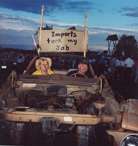 """Imports Took My Job"", Calathumpian Parade, July 4th, Biwabik, MN 1985"