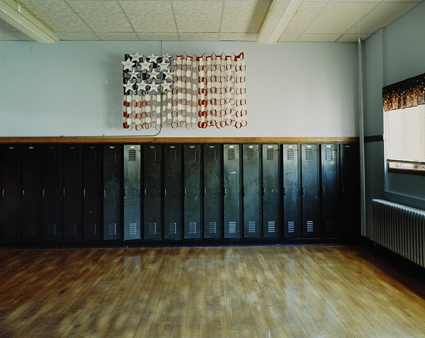Classroom, Upham School, Closed 2003, Upham, North Dakota 2003