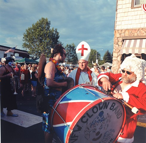 Chaka, Vito and Bergy at the Aurora Centennial Parade, Aurora, Minnesota 2003