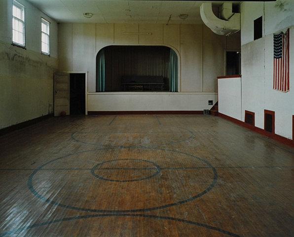 Gym, Alamo School, Closed 1990, Alamo, North Dakota  2004