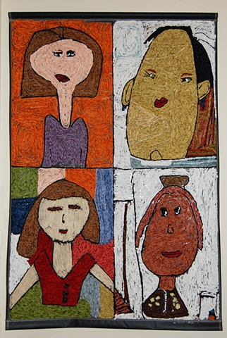 after school fiber art