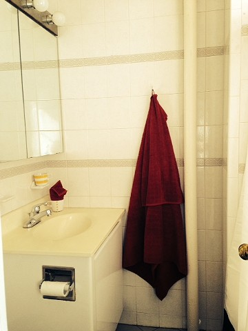 After photo of studio apartment bathroom