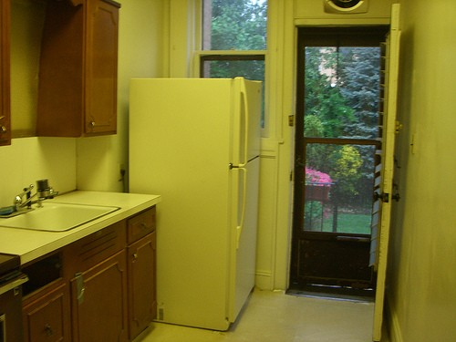 A seventies kitchen needs a gut renovation by Jane Interiors NYC