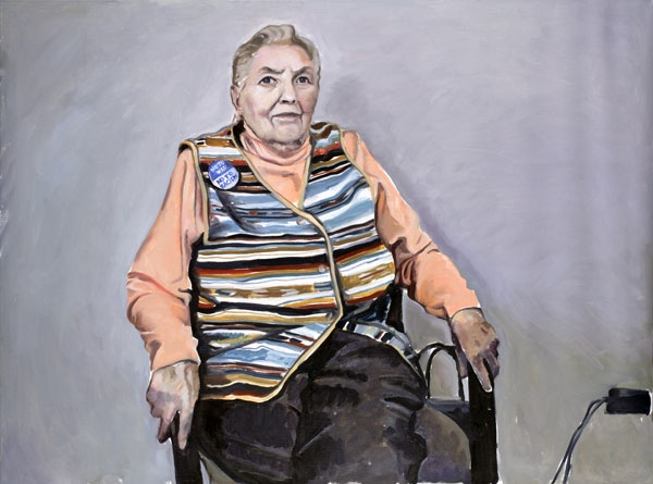 Yevgeniy Fiks: Portrait of Bernice Diskin, Communist Party USA