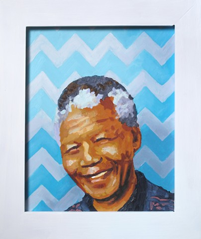 Luke Vehorn Original Oil Painting Contemporary Portrait South Africa Redux Charleston Queenstown Nelson Mandela Madiba