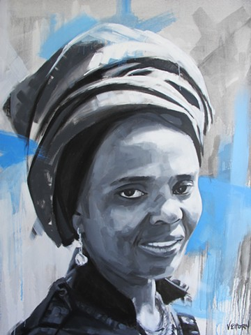 Luke Vehorn Original Oil Painting Contemporary Portrait South Africa Redux Charleston Queenstown