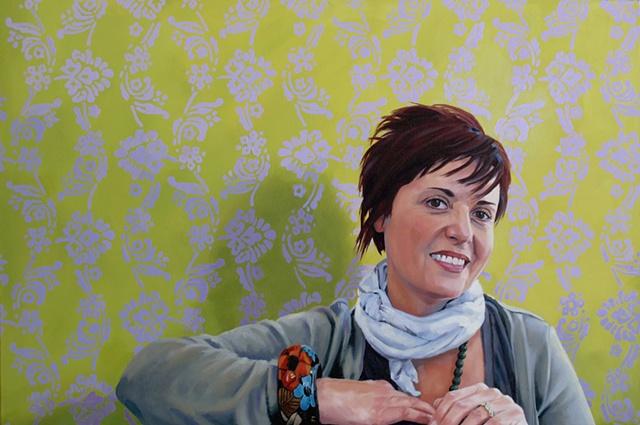 Artist Luke Vehorn Original Oil Painting Mrs. Marietha Prinsloo Patroness Prinsloo South African Artist Redux African Portrait Contemporary Portraiture