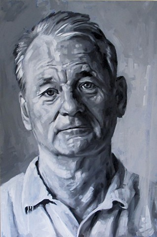 Luke Vehorn Original Oil Painting Bill Murray Contemporary Portrait