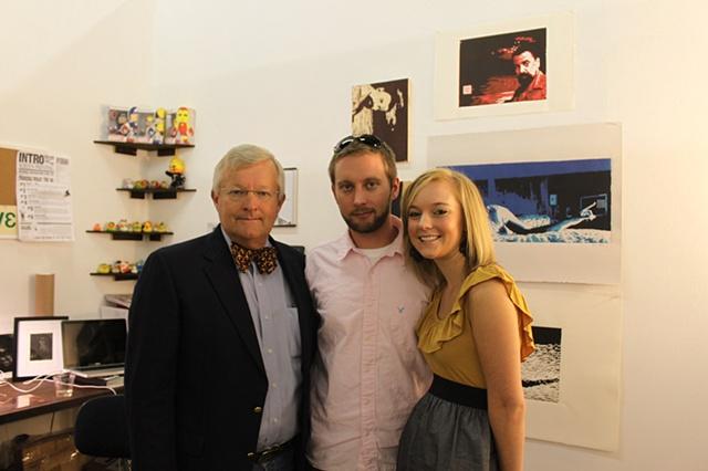 Ronnie Vehorn (dad) and Lauren Spencer (sister) visit the studio of aritist Luke Vehorn Redux Contemporary Art Center