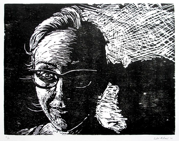 Luke Vehorn Original Woodblock Print Laura Cannon Printmaking Relief Woodcut