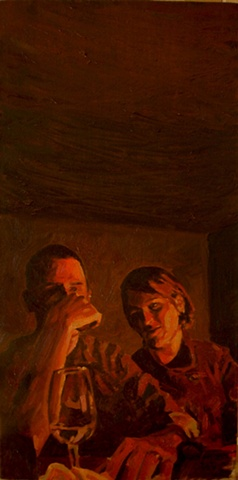 Oil on Canvas Oil Painting by artist Luke Vehorn , Subjects Teunis Schlebusch and Bonnie Davidson