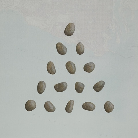 15 Pebble Triangle on Map