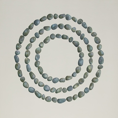 3 Concentric Pebble Rings