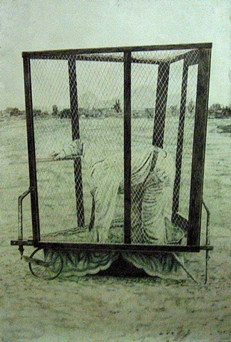 guy in a cage