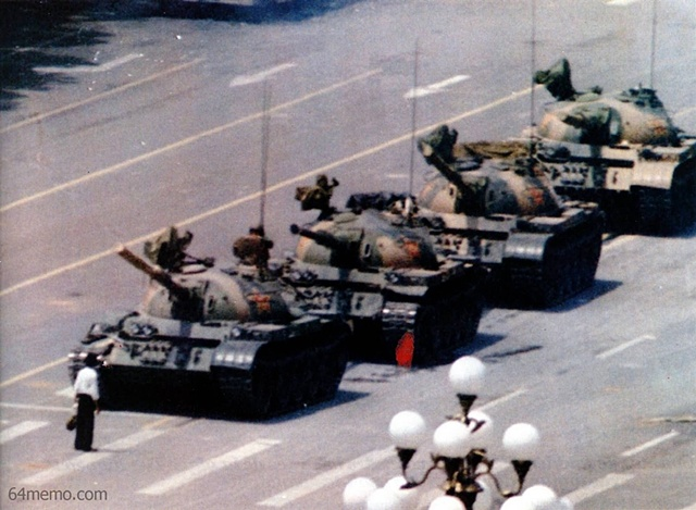 The Tank Man photograph from Tianamen Square