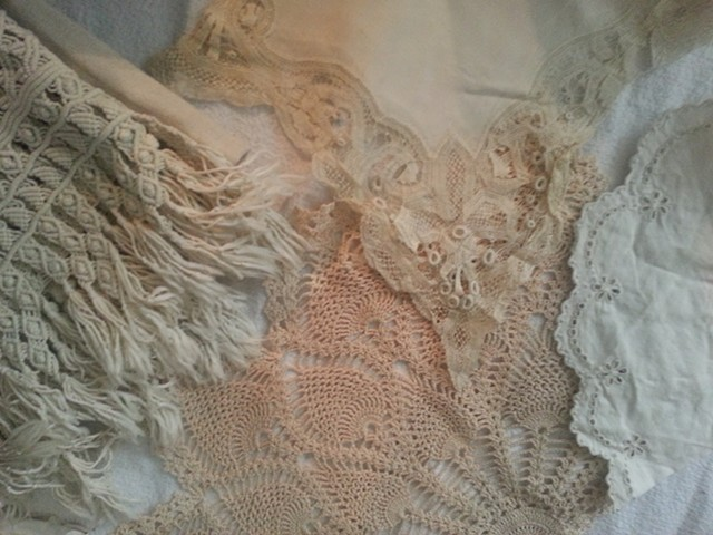 Textiles made by my Maternal Great Great Grandmother, Great Grandmother, Grandmother and Mother, 1800-1970's