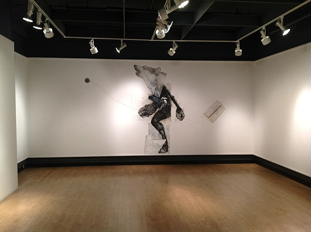 Where-wolf (Fairbanks Gallery, Oregon State University) install view