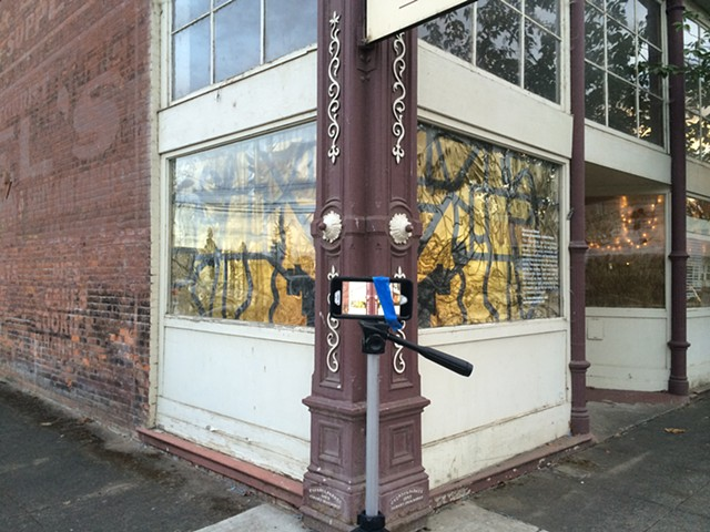 Above and Below, Art in Rural Storefronts, 2015  Time lapse video by Michael Boonstra