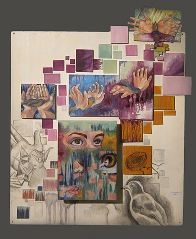 Sarah Prendergast Self-Portrait construction Intermediate Painting