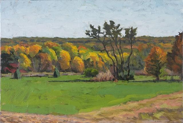 View towards Garrettsville, early autumn