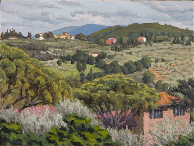 Florentine Hills Behind San Miniato
